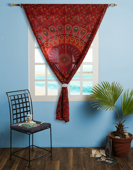 Rajrang - Tapestry as curtains