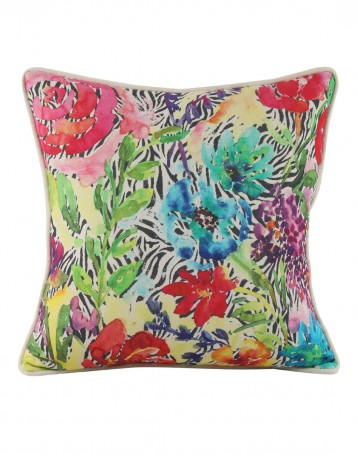 Home Decor Cushion Covers Cotton Casement Indian Style Designer Throw Pillows Green Pillow Floral Digital Printed