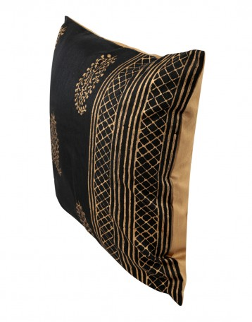 Elegant Pillow Shams Polyester Rajasthani Designs Black Throw Pillows Standard Size Single ...