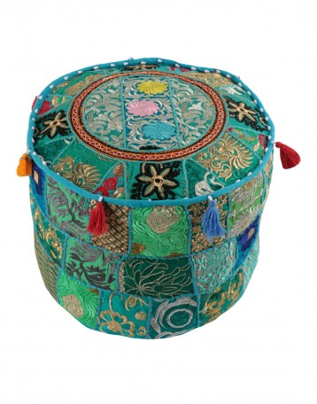 Indian Traditional Home Decorative Ottoman Handmade PoufIndian Impressive Indian Pouf Covers