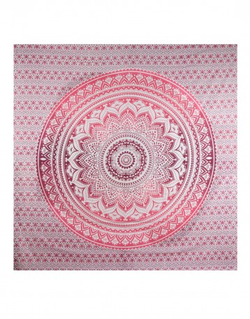 Pink Wall Tapestry white wall hanging | ombre pink wall tapestry | mandala wall tapestry