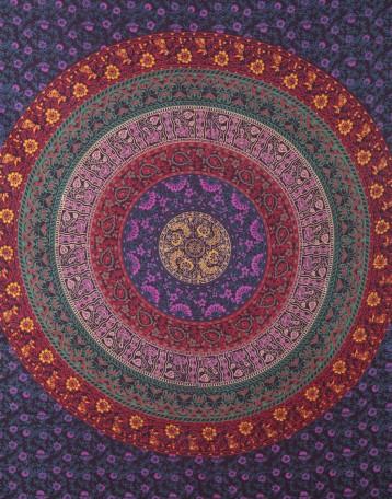 Bohemian Tapestry Wall Hanging floral mandala tapestry   hippie wall hanging   bohemian tapestry