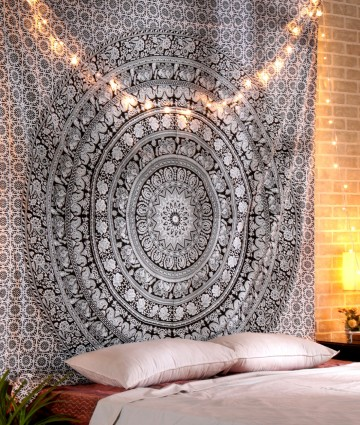 Hippie Wall Tapestry Cotton Wall Tapestry Bohemian Mandala