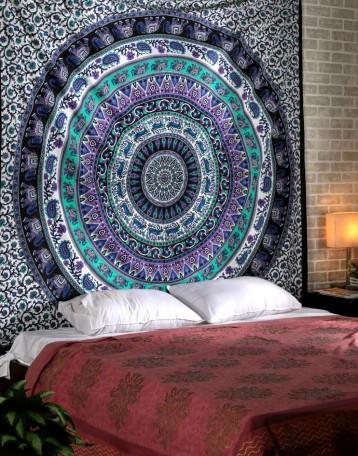 Hippie Dorm Room Wall Hanging And Black Indian Mandala Tapestries Rajrang