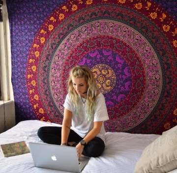 Large Hippie Tapestry 9bb72ea088