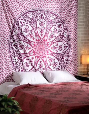Pink Wall Tapestry pink wall tapestry | mandala wall hanging | cool tapestrys