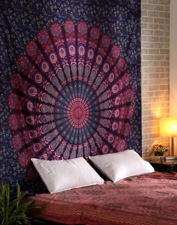 Pink Wall Tapestry pink wall tapestry | bohemian wall tapestry | indian tapestry
