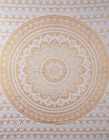 Gold Mandala Tapestry Dorm Room Tapestry Boho College