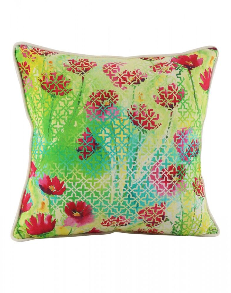 Decorative Pillow Cases Covers : Heritage Designs Green Pillow Covers Decorative Accessories Cotton Pillow Cases Decorative ...