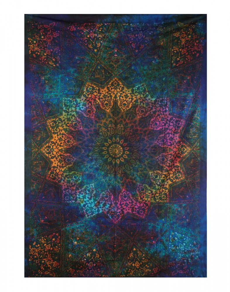 Bohemian Tapestry Wall Hanging blue wall tapestry | cool tapestry | mandala wall hanging | wall