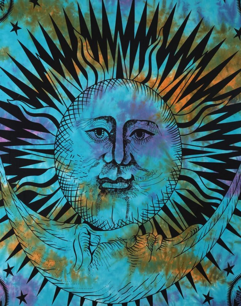 Sun And Moon Tapestry Cotton Mandala Tapestry Wall