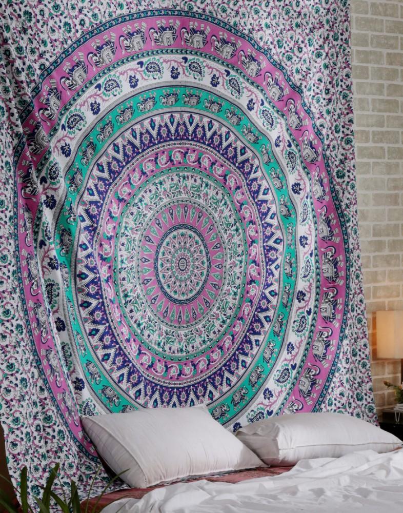 Elephant Mandala Pink Mandala Wall Decor Bohemian