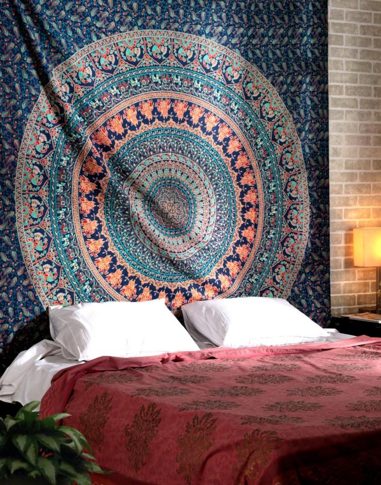 Elephant mandala tapestry   green elephant mandala tapestry wall hanging  tapestry   Bohemian tapestry. Mandala Tapestry  Boho Wall Hangings and Round Beach Throws Shop