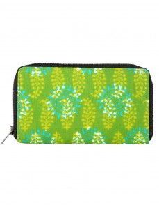 Attractive Cotton Green Clutch Bag Leaves Printed For Women By Rajrang