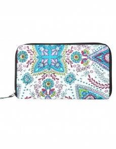 Gorgeous Cotton White Clutch Bag Floral Printed For Women's By Rajrang