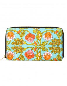 Classic Cotton Green Clutch Bag Floral Printed Ladies By Rajrang