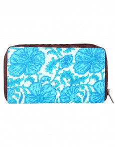 Indian Designer Cotton White Clutch Bag Floral Printed For Women By Rajrang