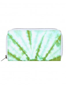 Casual Cotton Green Clutch Bag Abstract Tie Dye For Women's By Rajrang