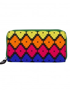 Gorgeous Cotton Orange Clutch Bag Geometric Embroidered For Women's By Rajrang