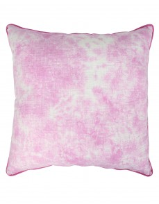 Luxurious Cotton Slub Tie Dye Abstract Fuchsia Cushion Cover (Single pcs )