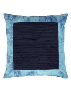 Cotton (40s) Beautiful Abstract Tie Dye Dark Blue Cushion Cover (Single pcs )