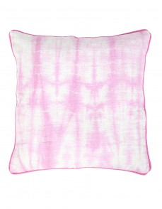 Dazzling Tie Dye Fuchsia Cotton Slub Cushion Cover (Single pcs )
