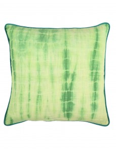 Tie Dye Emerald Green Cotton Slub Cushion Cover