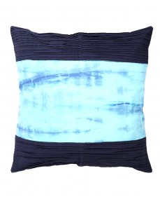 Decorative Tie Dye Cotton Slub Dark Blue Cushion Cover (Single pcs )