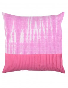 Fuchsia Traditional Tie Dye Cotton Cushion Cover (Single pcs )