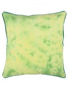 Tie Dye Luxurious Emerald Green Cotton Cushion Cover (Single pcs )