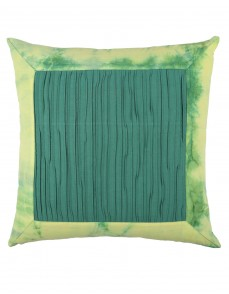 Tie Dye Emerald Green Cotton Slub Cushion Cover (Single pcs )