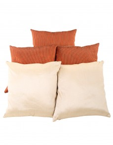Solid Yarn Dyed Cream Polydupion Reversible Cushion Cover
