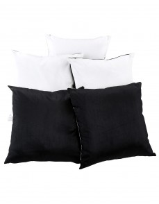 Solid Yarn Dyed White Polydupion Reversible Cushion Cover