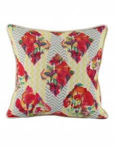 Attractive  cushion covers Cotton Casement Indian Indian Design throw pillows Red pillow covers Floral Digital Printed