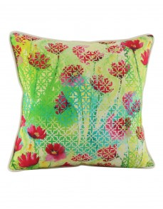 Rajasthani Decor Green Pillow Shams  Indian Style Cotton Throw Pillows Jaipuri Designs Single Cushion Covers Digital Printed Floral