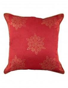 Unique Pillow Cases Polyester Indian Designer Red Cushion Cover Indian Ethnic Single Pillow Shams Floral Hand Block Printed