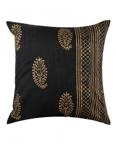 Elegant Pillow Shams Polyester Rajasthani Designs Black Throw Pillows Standard Size Single Cushion Covers Paisley Hand Block Printed