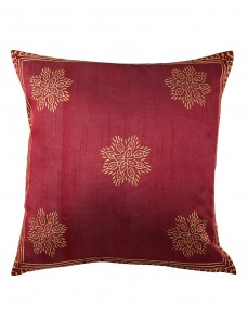 Indian Designer Red Cushion Covers Polyester Classic  Pillowcases Decorative Single Pillow Covers Hand Block Printed Floral