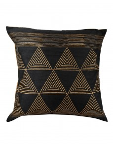 Modern Home Decor Black Pillow Cases Single Decorative Pillows Cases Polyester Cushion Cover Elegant  Pillow Shams Hand Block Printed Triangle