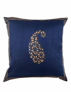 Rajasthani Designs Polyester Throw Pillows Blue Ethnic Single Cushion Covers For Bed  Pillowcases Hand Block Printed Paisley