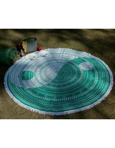 Green Mandala Indian Round Tapestry Table Cloth Bedsheet Beach Throw Yoga Mat