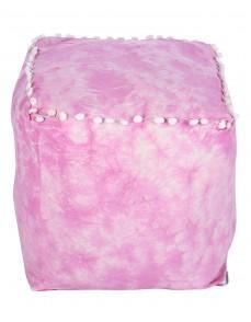 Cotton Casement Colorfull Fuchsia Pouf Cover