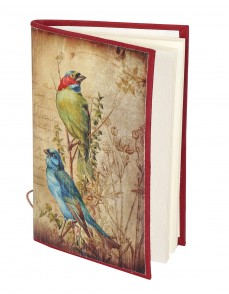 Beige Paper Bird Digital Printed Diary