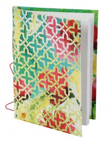 Beautiful Diary Abstract Green Printed Card Board Paper Diary