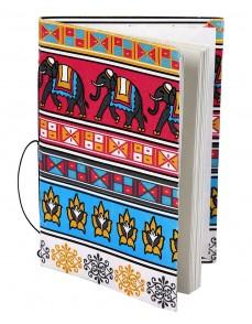Magenta Cardboard Paper  Printed Elephant Diary