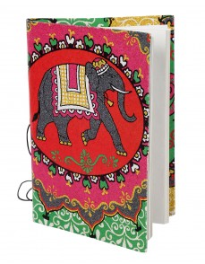 Decorative Diary Elephant Red Printed Card Board Paper Diary
