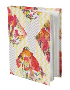 Gorgeous Diary Floral Yellow Printed Card Board Paper Diary