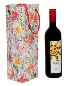 Indian Floral Printed Card Board Paper Wine Bottle Holder