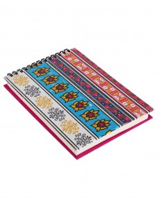 Elephant Printed Multi Color Cardboard Paper Diary