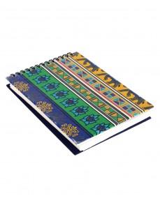 Elephant Printed Blue Cardboard Paper Diary